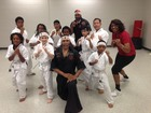 Newsome kicks her way through karate class