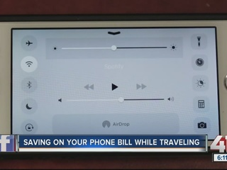 Saving money on your phone bill while traveling
