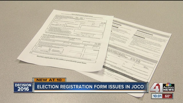 Johnson County Is Offering A Federal Voter Registration Form One