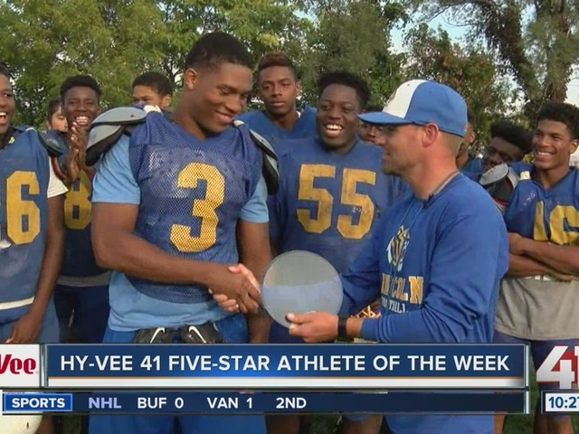 Lincoln Prep's Travis Martin is the Hy-Vee 41 Five-Star Athlete of the Week