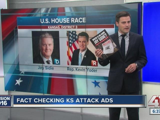 Fact checking Kansas attack ads