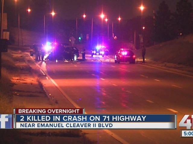 OVERNIGHT: 2 people killed in car crash on Highway 71 and Emanuel Cleaver