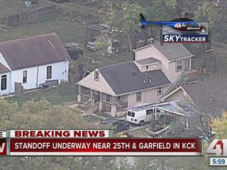 Standoff underway near 25th and Garfield in KCK