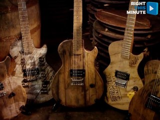 Artist uses bourbon barrels to make guitars
