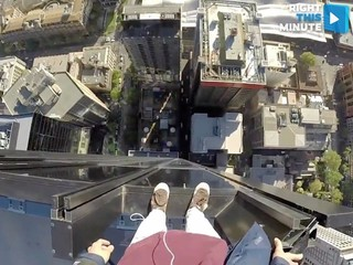 VIDEO: Don't look down!