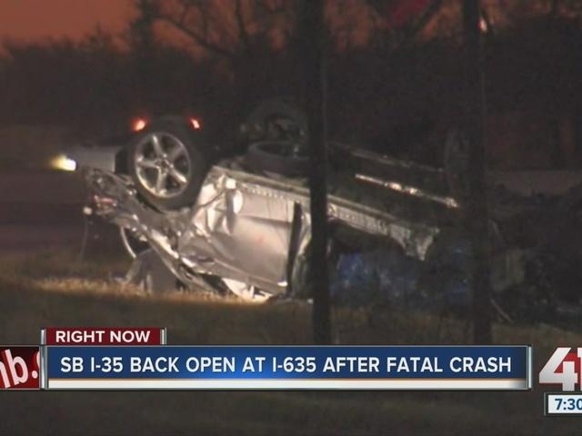 I-35 re-opened at I-635 after fatal crash
