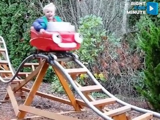 VIDEO: Ultimate backyard roller coaster