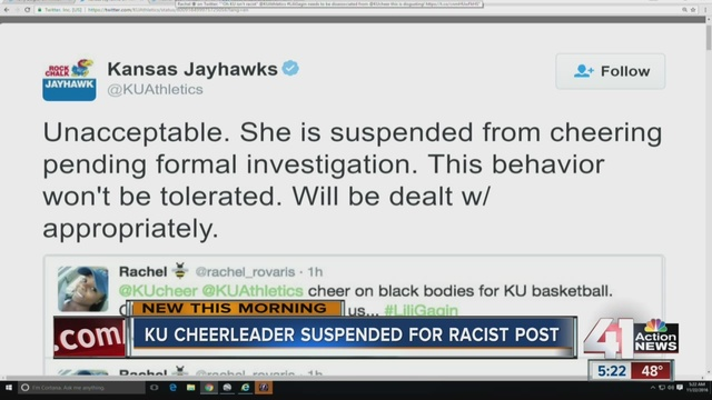 University of Kansas Suspends Cheerleaders Following Racially Charged Snapchat