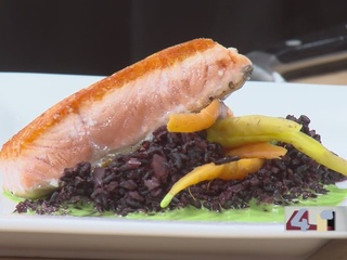 RECIPE: Salmon with Black Forbidden Rice