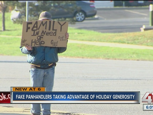 Fake panhandlers taking advantage of holiday generosity