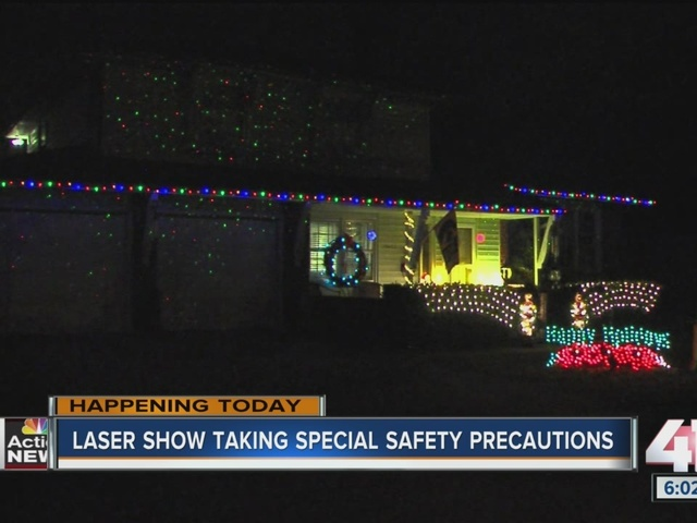 Laser show taking special safety precautions
