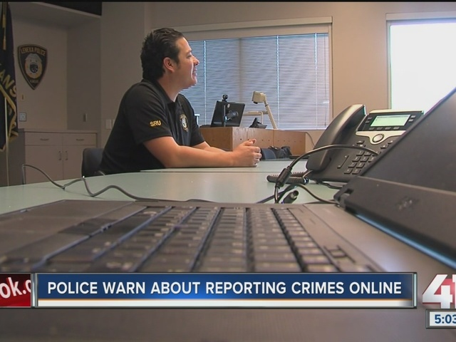 Police warn about reporting crimes online