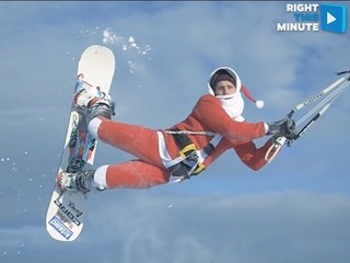 VIDEO: Santa test-drives his newest snow kite