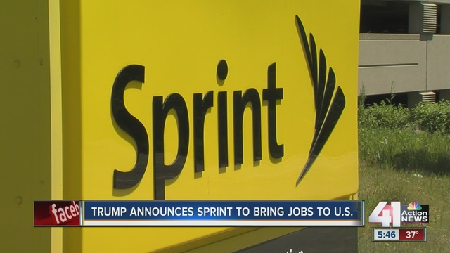Sprint promises 'to create or bring back to America 5000 jobs'