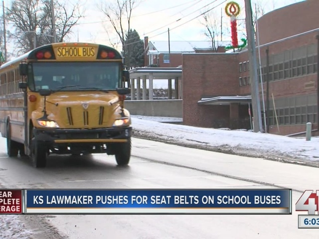 Kansas Legislator Proposes Law To Require Seat Belts On School Buses