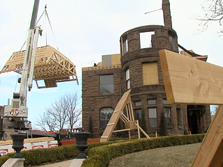 Neighbors help rebuild historic home after fire