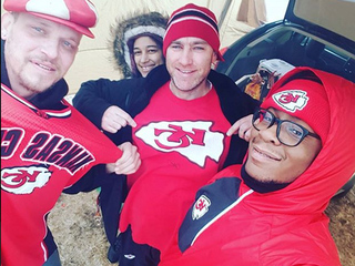 Chiefs fans brave the weather for big game