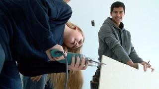 Turner HS students build homes for homework