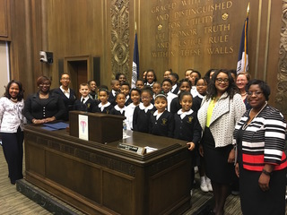 Faith Academy students honored for garden tower
