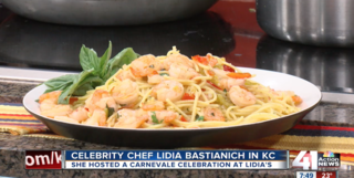 Lidia shares her shrimp & spaghetti recipe!