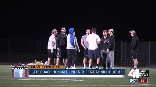 Late Blue Valley coach honored under Friday night lights