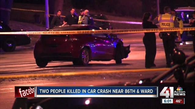 Two killed in crash near Ward Parkway Center