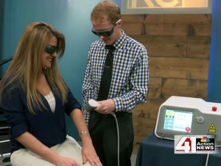 Deep tissue laser therapy helps with pain relief
