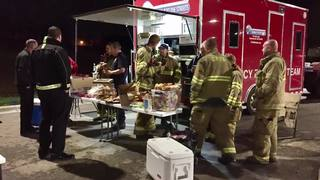 OP community providing support for fire victims