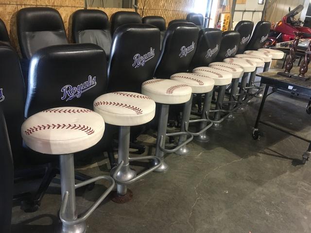 Baseball Barstools From Diamon Club.