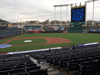 Crews work on renovations at Kauffman Stadium