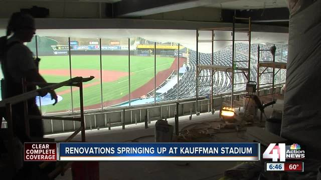 Changes coming to parts of Kauffman Stadium