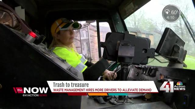 Waste management hires more drivers to alleviate demand