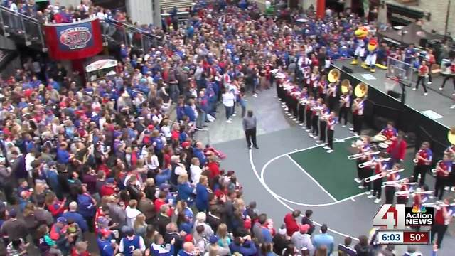 Kansas fans fired up for Elite Eight game