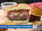 Jazzy B's smoked burger of the month