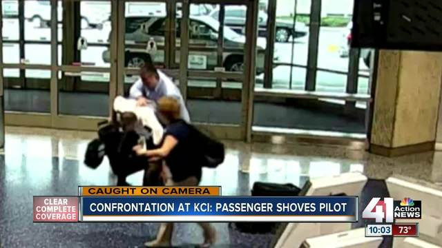 Video shows Kansas City International Airport confrontation with pilot, passenger