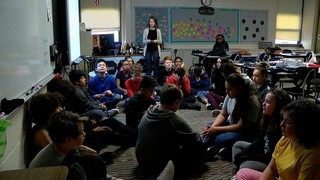 Turner offers students meditation for trauma