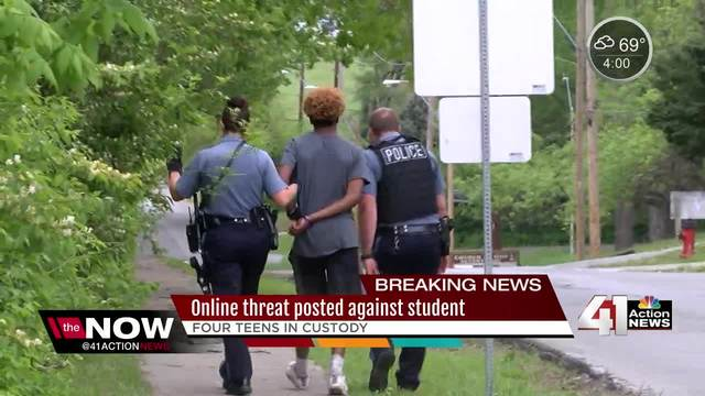 Four teens in custody after threatening student on Facebook Live
