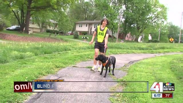 Blind runner has guide dog trained for jogging