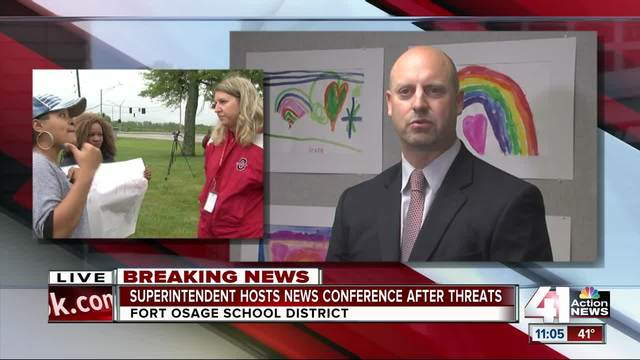 Superintendent hosts news conference after threats