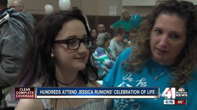 Hundreds gather for Jessica Runions-s memorial