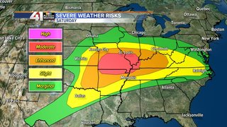 Stay weather aware for severe storms Saturday