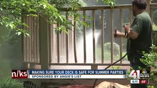 Making sure your deck is safe for summer parties