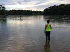 Yoga on the water at Shawnee Mission Park