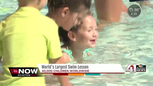 Last Chance Splash joins World's Largest Swim Lesson