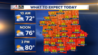 Cooler and comfortable this weekend