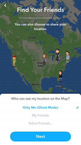 Why cant i see friends locations on snapchat