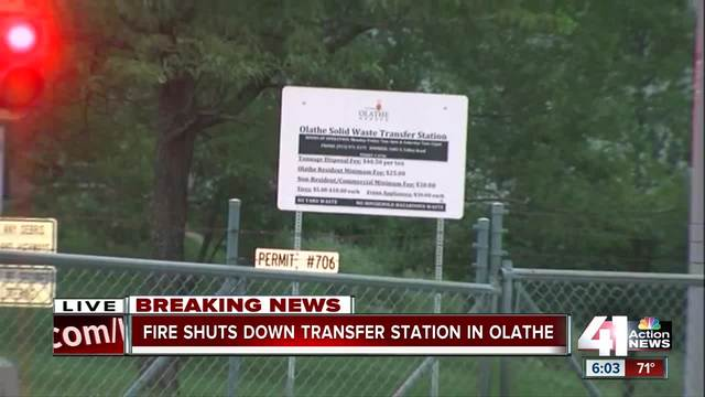 Fire shuts down transfer station in Olathe
