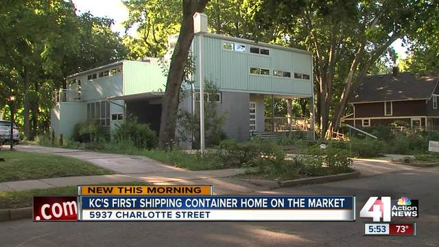 Kansas City\'s first shipping container home is on the market - KSHB ...