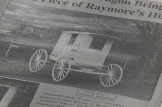 PHOTOS: Man reunited with old mail wagon