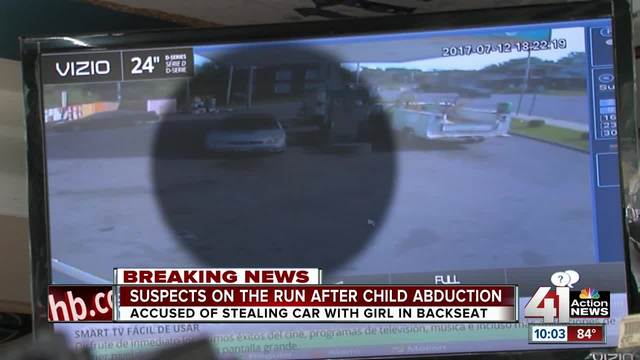 Kan. police search for 3-year-old child in stolen vehicle